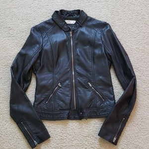 Hco Black faux leather jacket